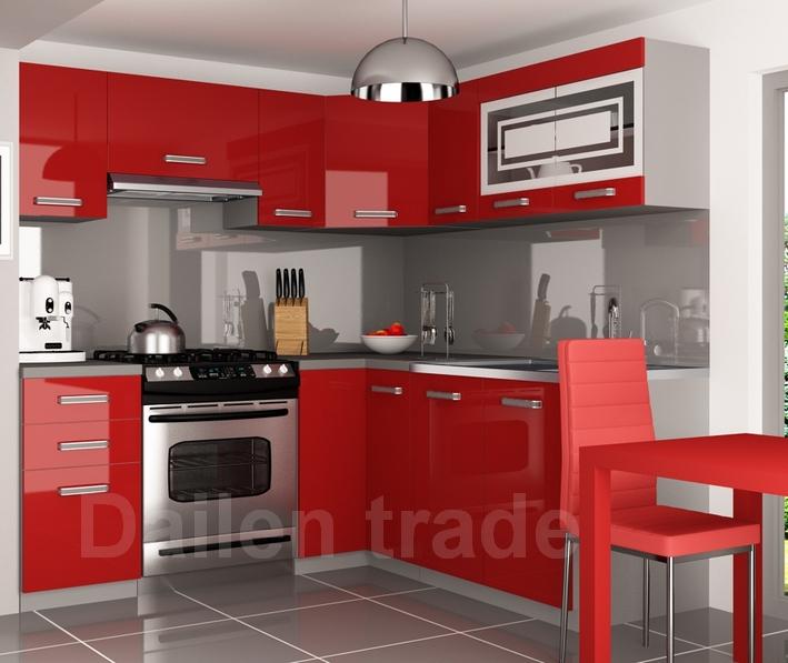 56cdb249380b SYLVA rohová kuchyňská linka červená